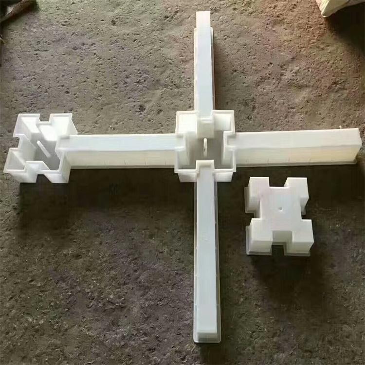 正十字形自锁护坡混凝土砌块模具