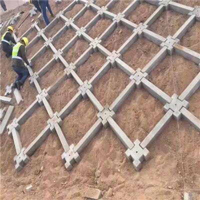 正十字形自锁护坡混凝土砌块